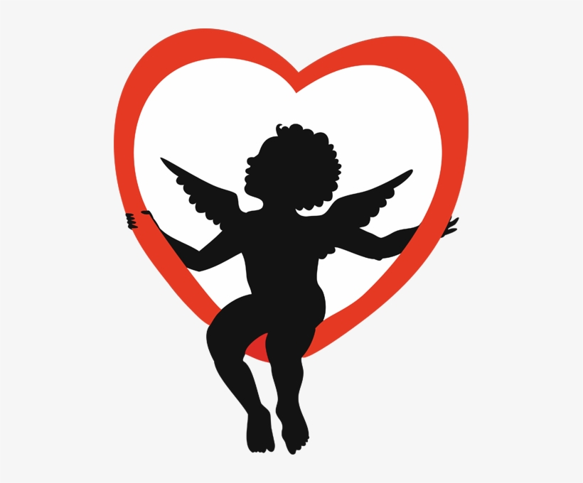 Cupid Clipart Valentines Vector Black And White Library.