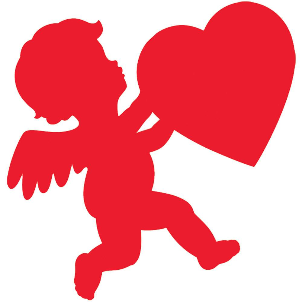 Amscan 11 in. Valentine\'s Day Red Paper Cupid Cutout (17.