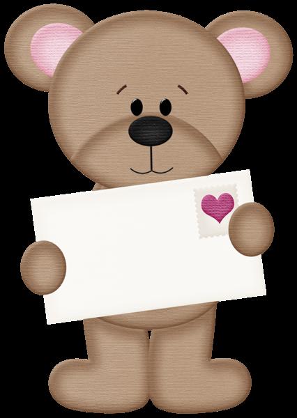 VALENTINE\'S DAY TEDDY BEAR CLIP ART.