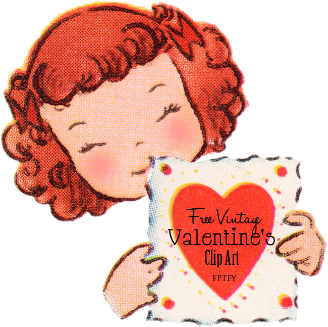 Vintage Valentines Day Clipart.