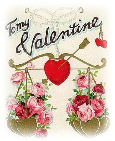 Free Vintage Valentine Clip Art.