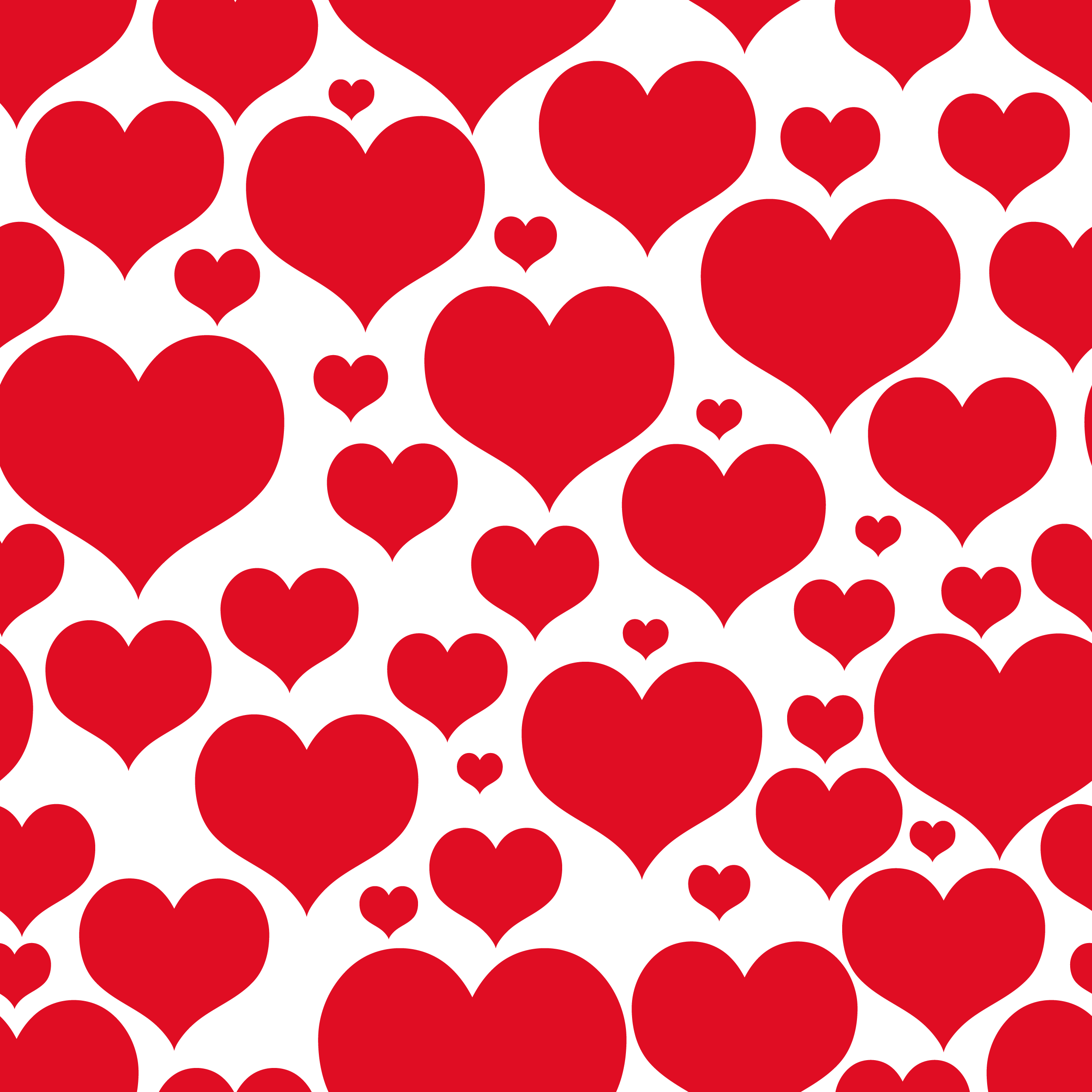 Valentines Day Transparent Heart Decor for Wallpaper Clipart.