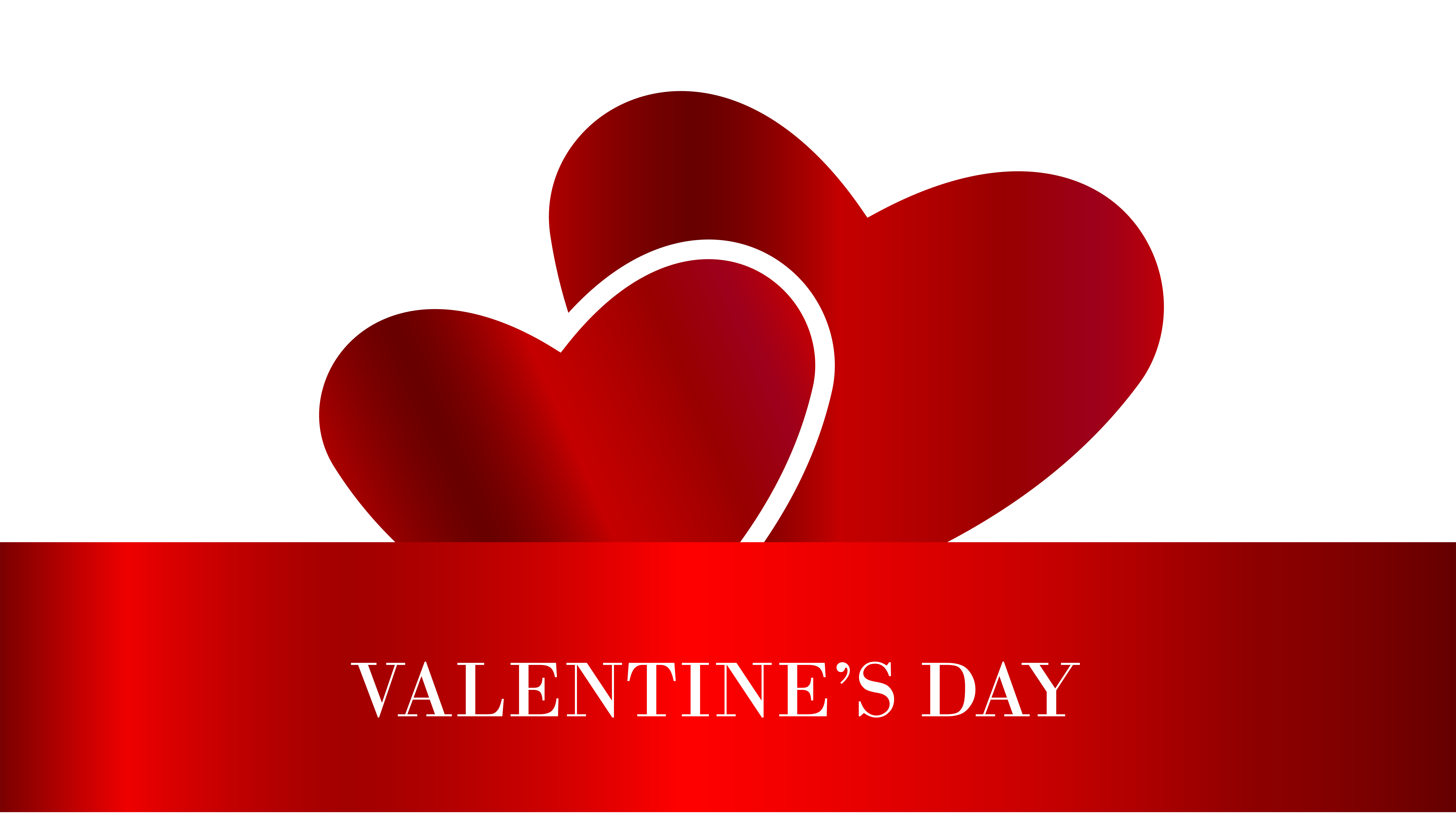 Valentine's Day Hearts Transparent PNG Clip Art Image.