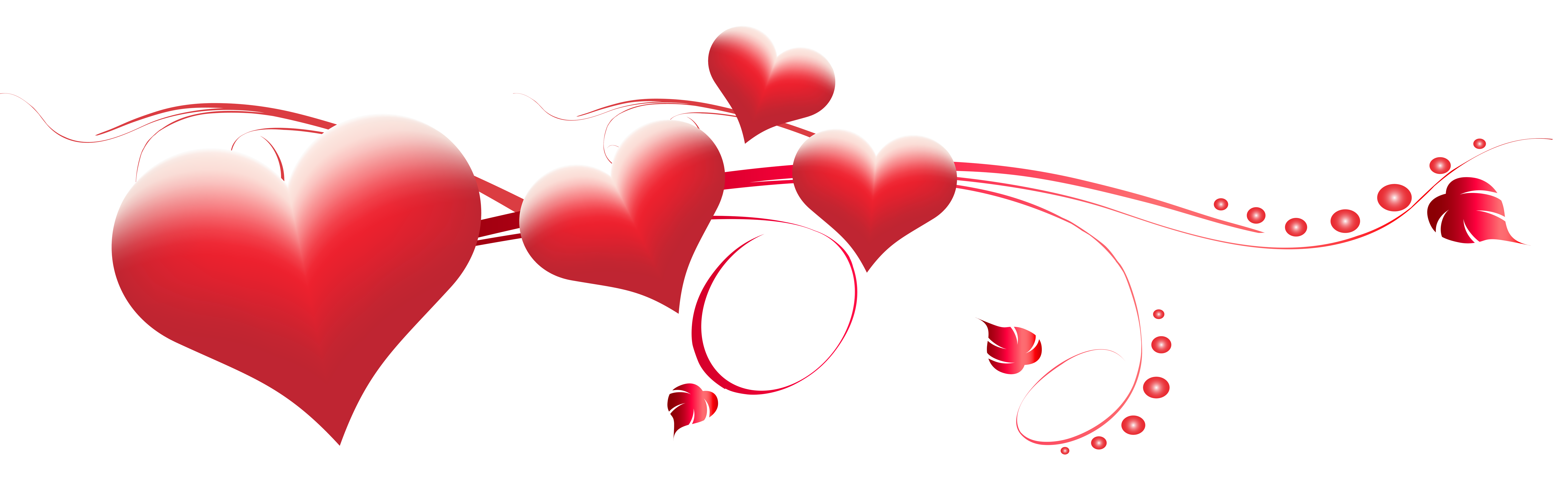 Valentine's Day Hearts Decoration Transparent PNG Clip Art Image.