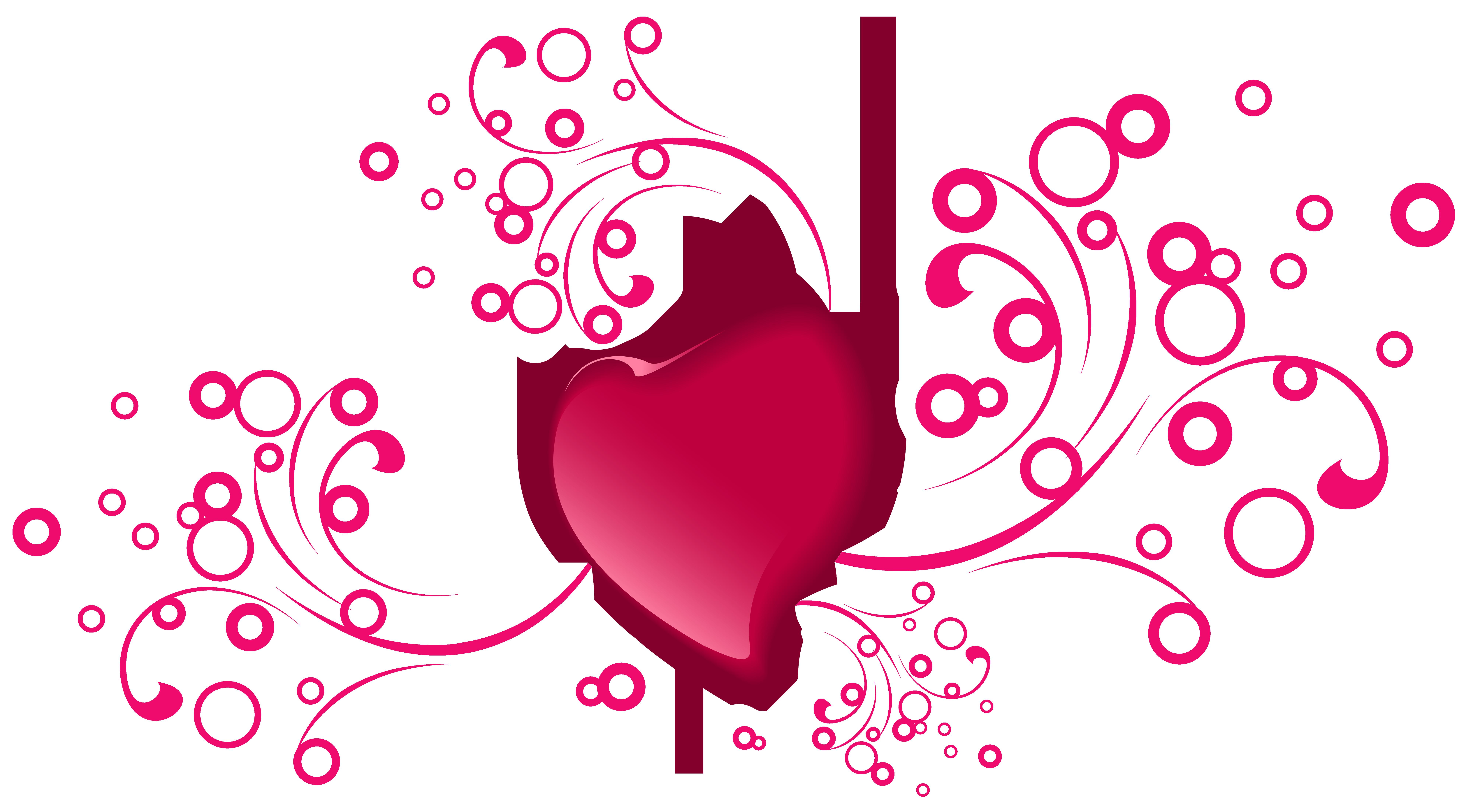 Valentine's Day Decorative Heart Transparent PNG Clip Art Image.