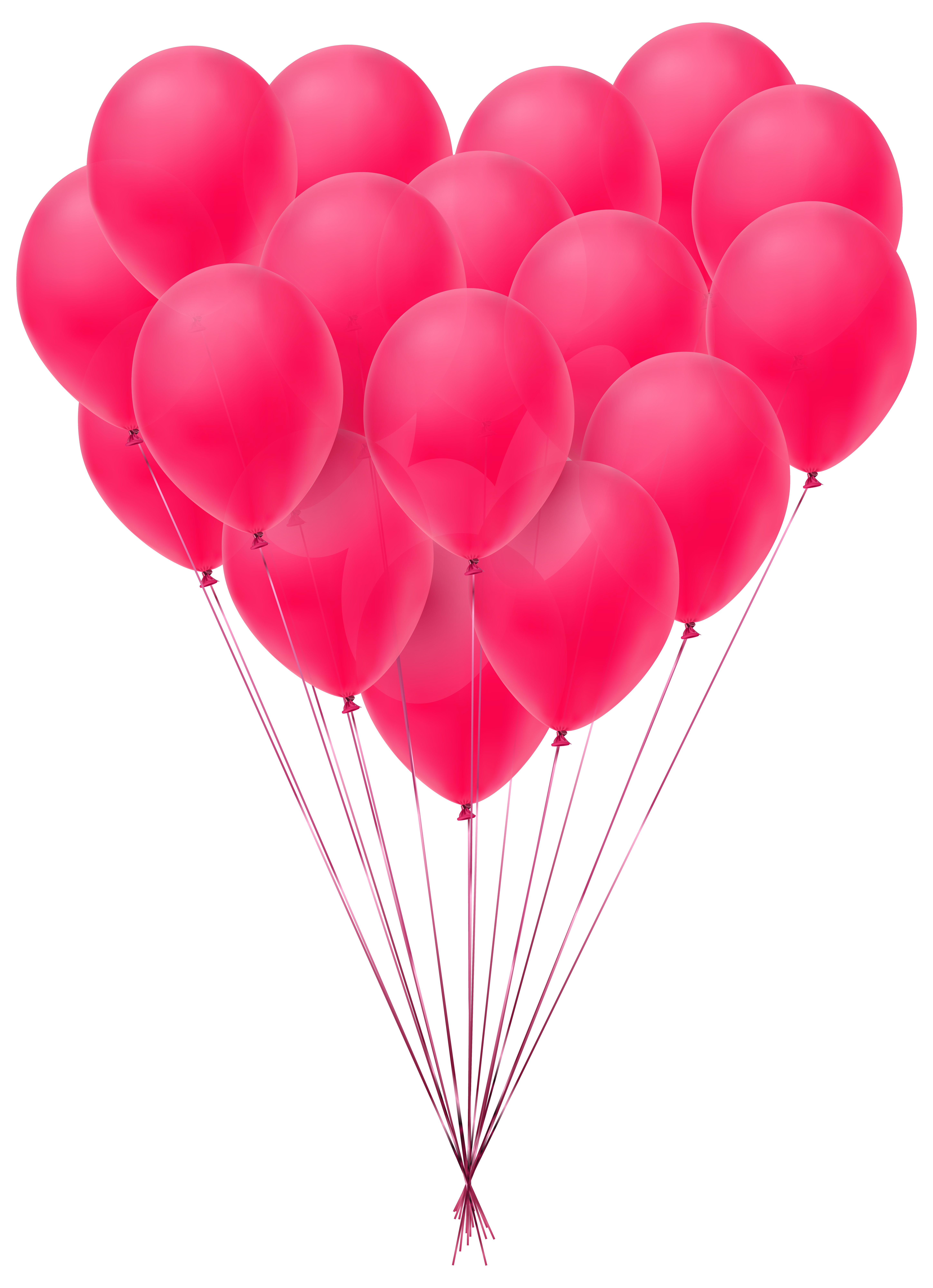 Valentine's Day Balloons Transparent PNG Clip Art Image.
