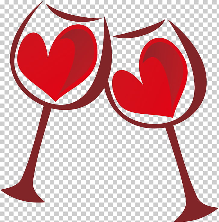 Valentine\'s Day Heart Love , Free deduction of red wine.