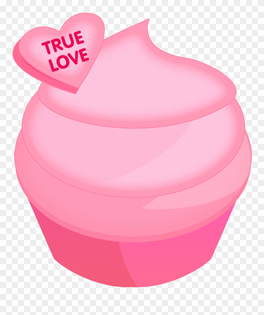 Pink Cupcake Clipart For Valentines Day.