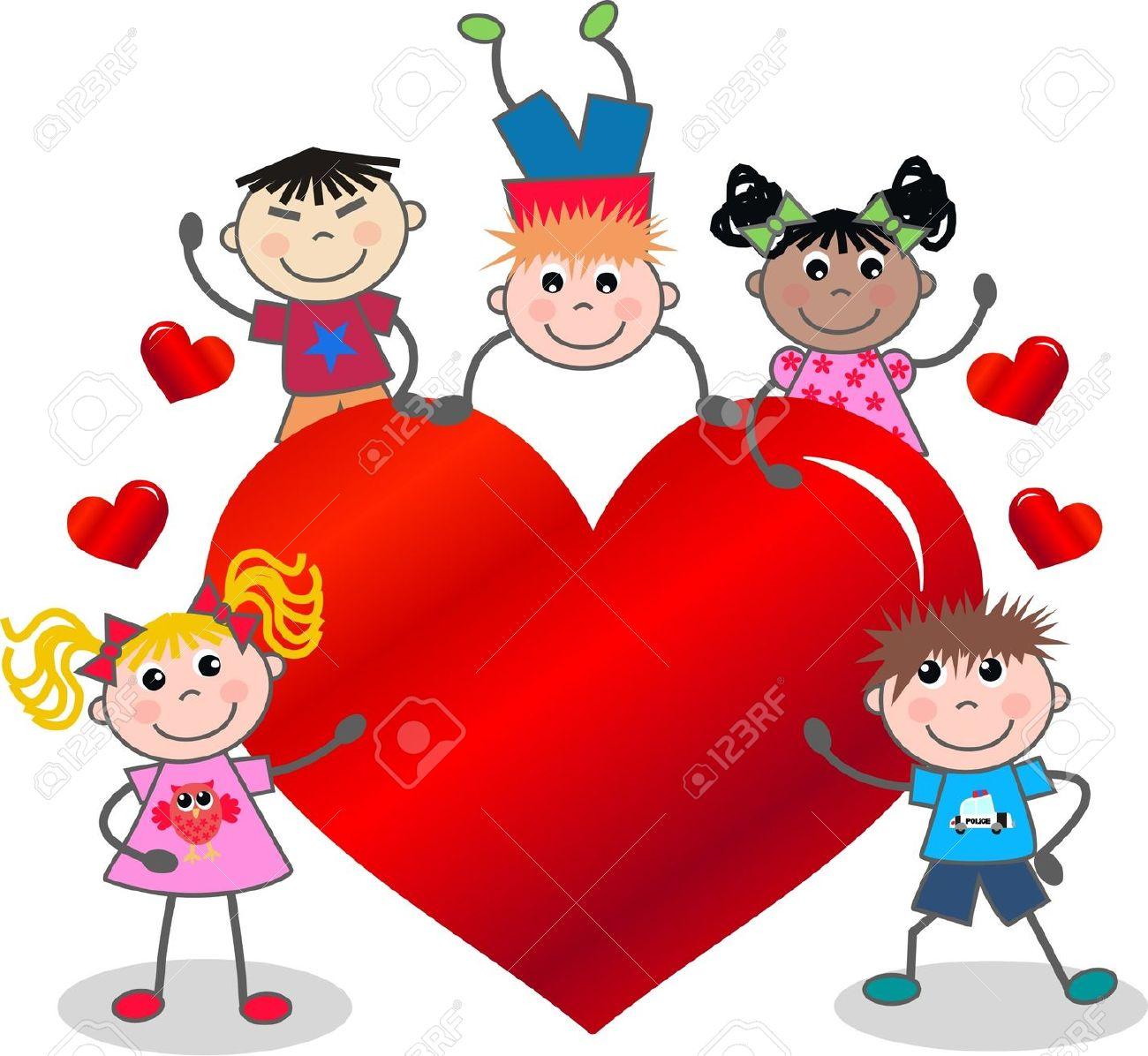 Schön Valentines Day Family Clipart.