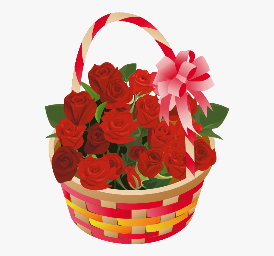 Roses Basket Png Clipart.