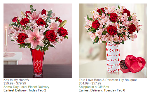 AI helps pick right flowers for Valentines day.