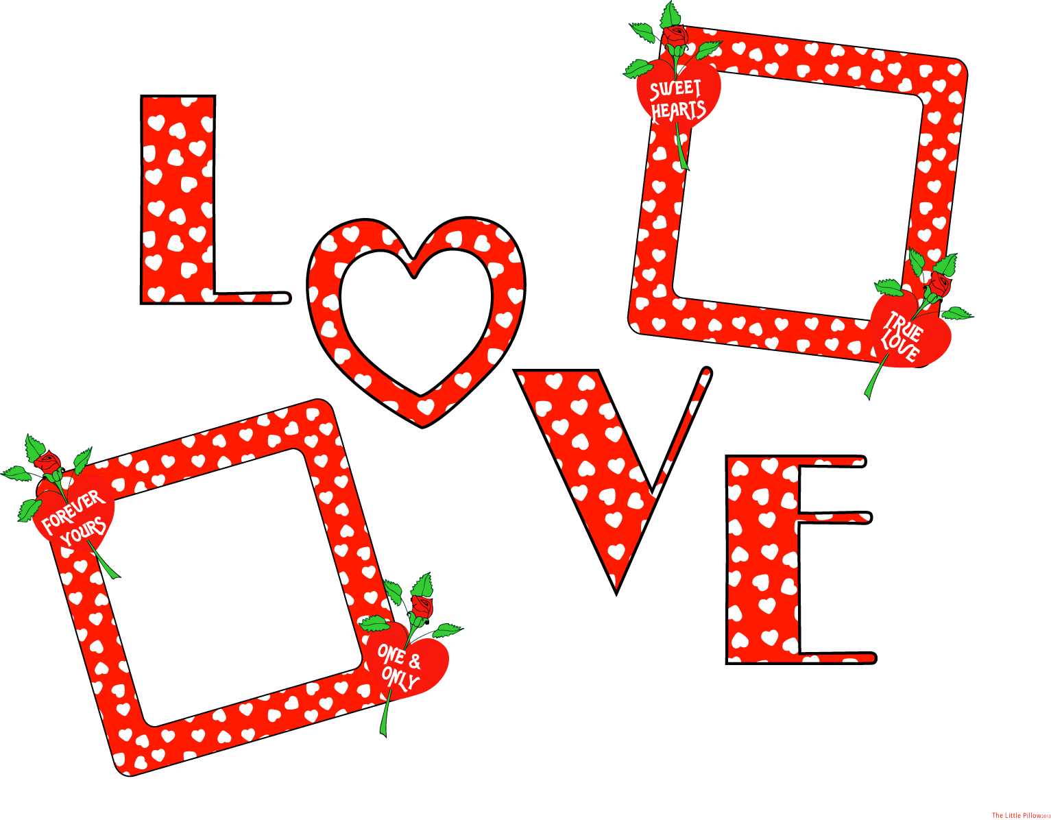 Happy Valentines Day Love PNG Transparent Image.