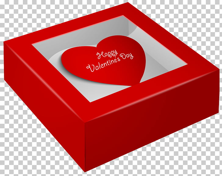 Valentine\'s Day Gift Heart , Happy Valentine\'s Day Box , red.