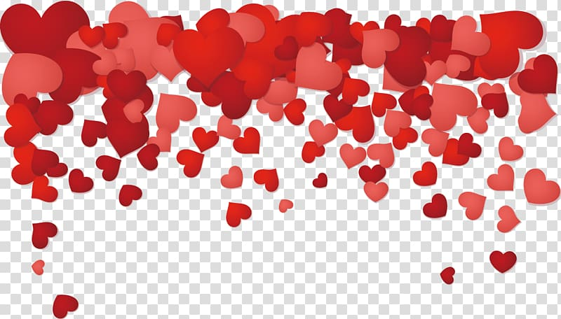 Red heart illustration, Valentines Day Heart Illustration.