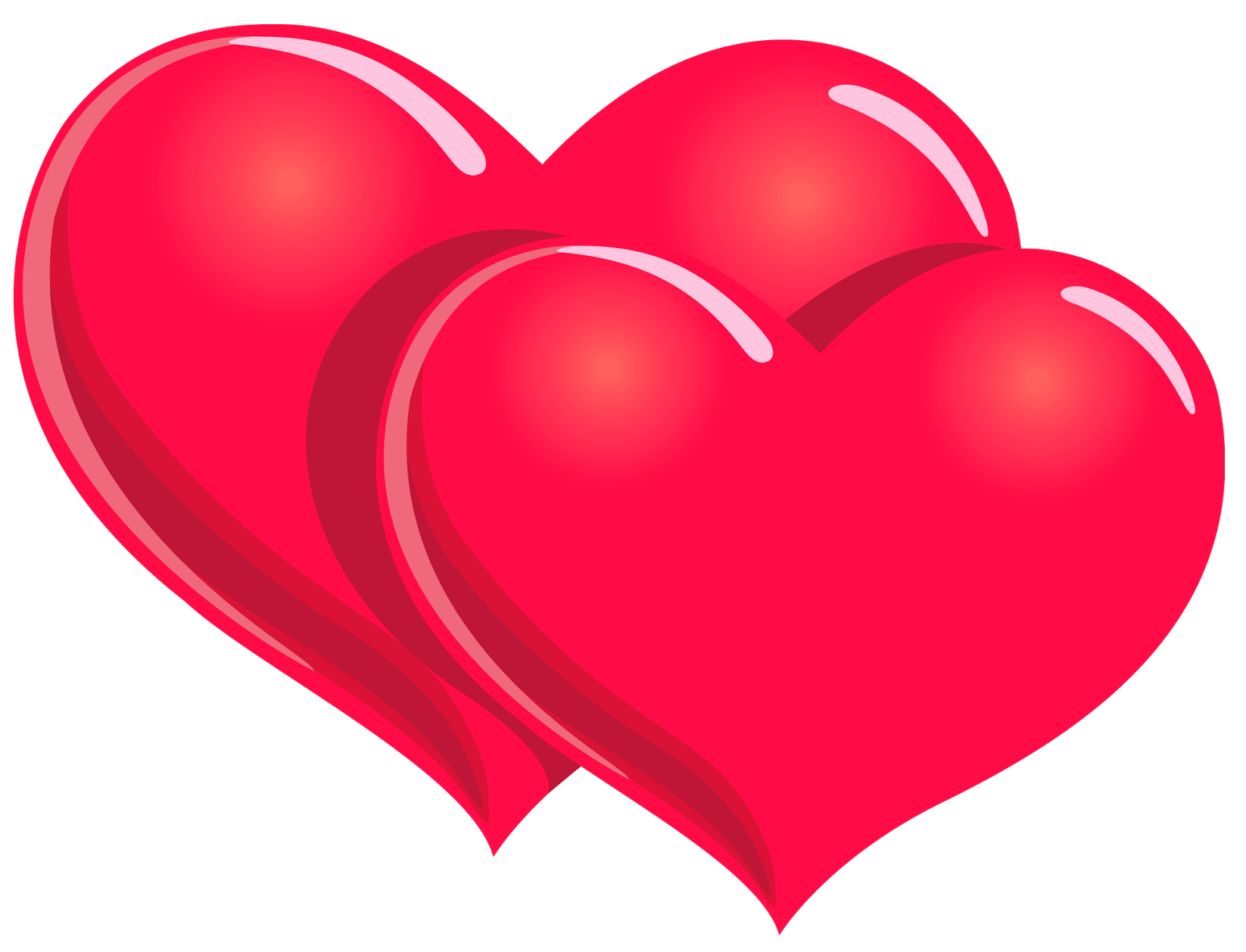Valentines Day PNG Hearts Clipart Picture.