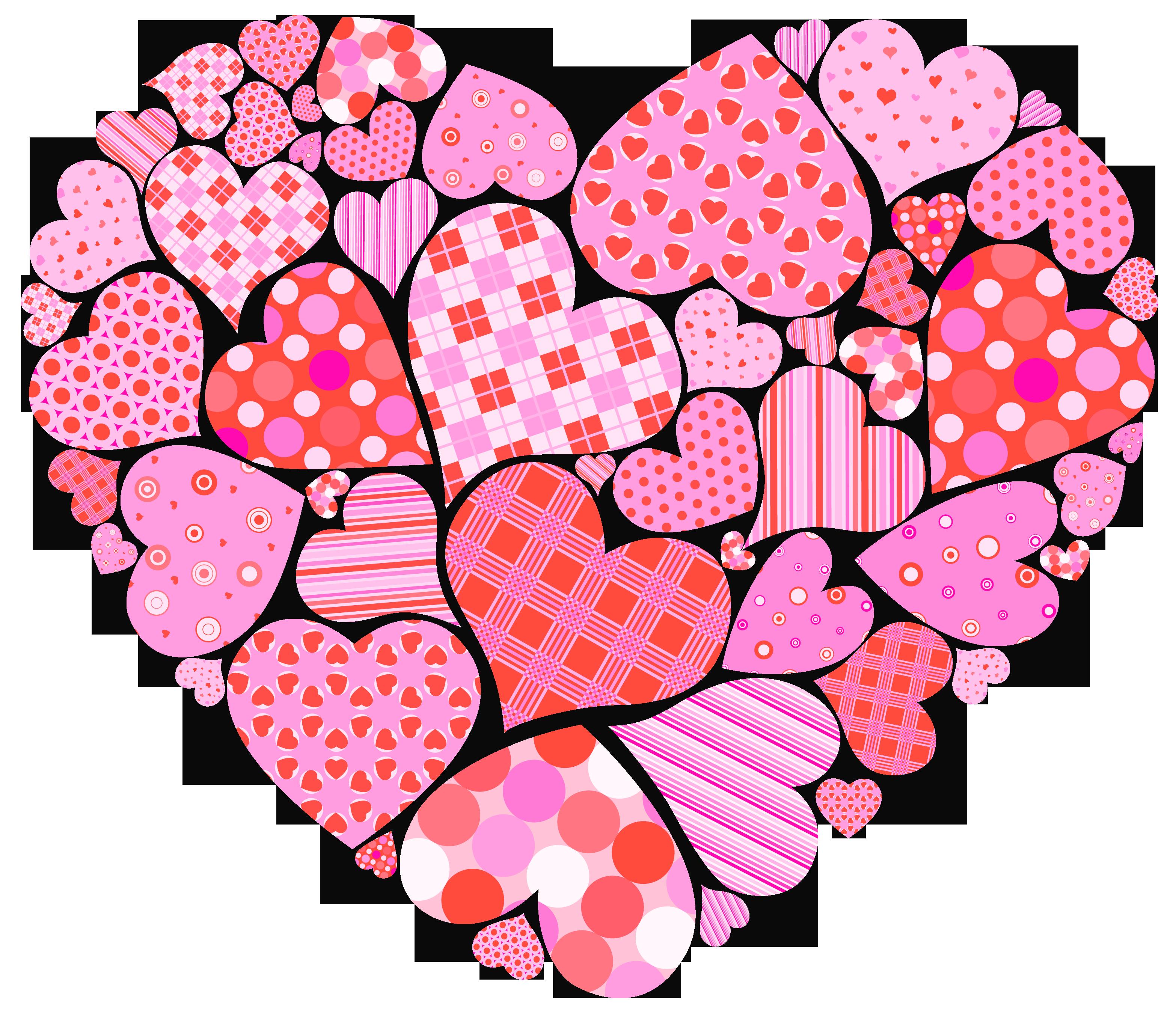 Valentine\'s Day Hearts Clipart.