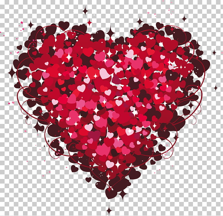 Heart Valentine\'s Day , Heart of Hearts , pink hearts PNG.