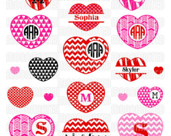 Valentines Day Monogram Clipart Clipground