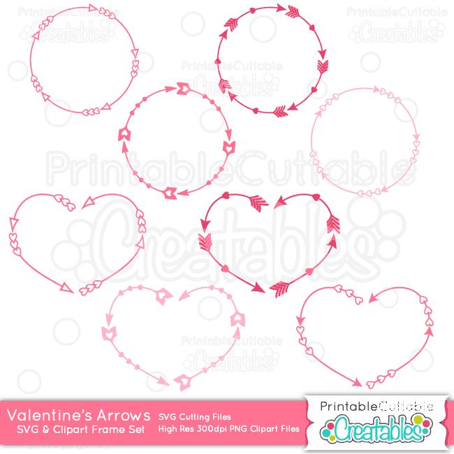 Valentines Day Monogram Clipart.
