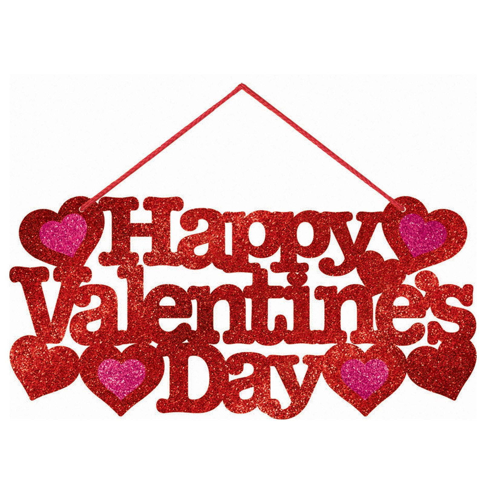 Happy Valentines Day Banner Clipart.