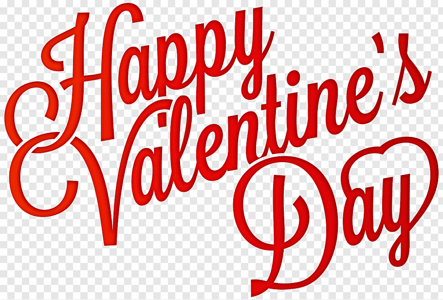 Happy Valentine\'s Day text, Valentine\'s Day Heart, Red Happy.