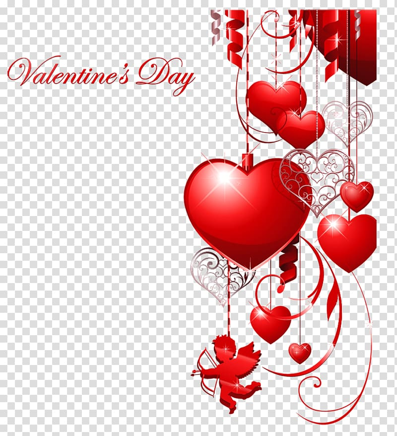 Happy Valentines Day transparent background PNG clipart.