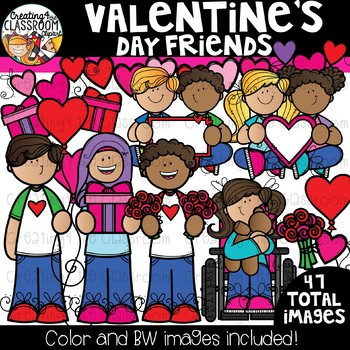 Valentine\'s Day Friends Clipart {Valentine\'s Clipart}.