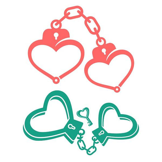 Valentines hand cuff clipart Transparent pictures on F.