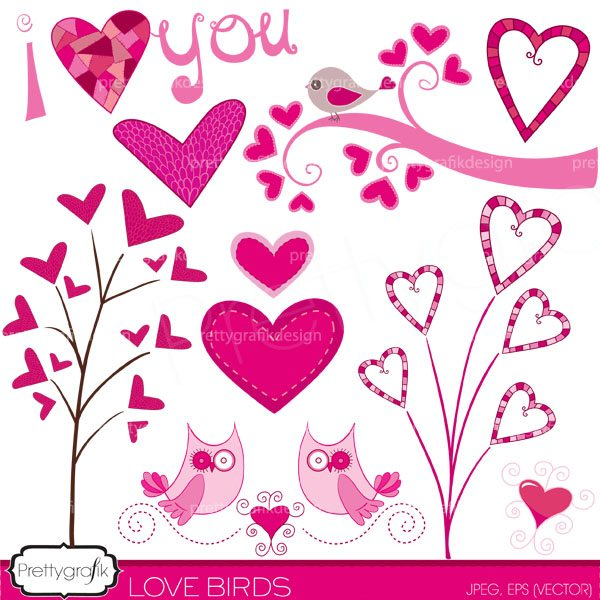 valentine hearts clipart commercial use.
