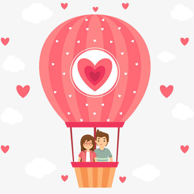Love Hot Air Balloon Clipart.