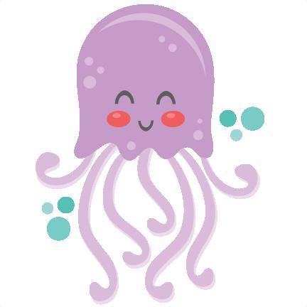 Jellyfish Clipart Cute.