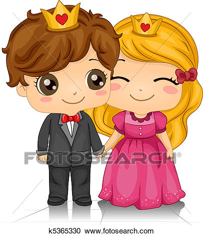 Kiddie King And Queen Clipart.