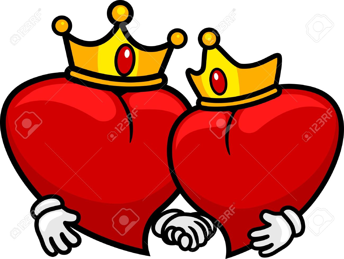 Valentine King And Queen Clipart.