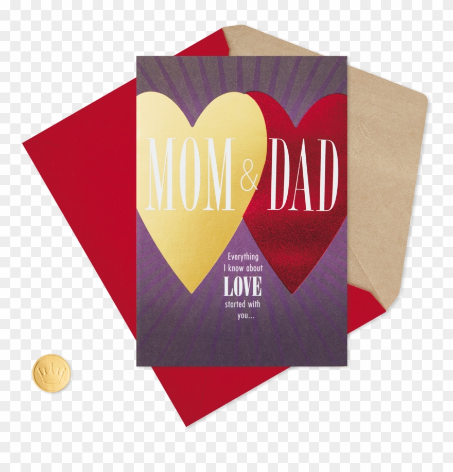 Dad You Two Are My Heart Valentine\'s Day Card For Mom.