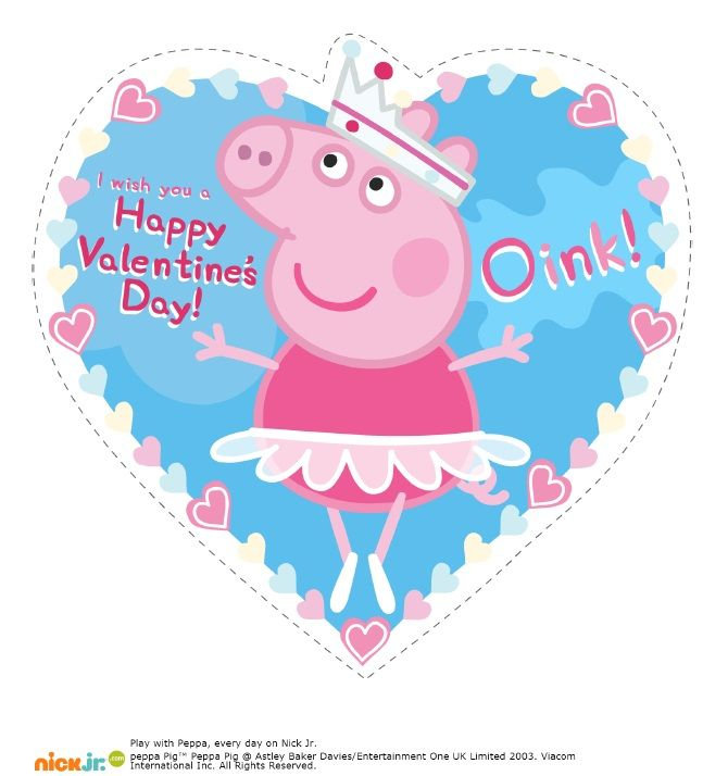 Peppa Pig Valentines Clipart.