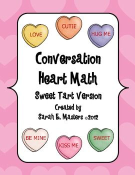 Valentine Conversation Heart Math.