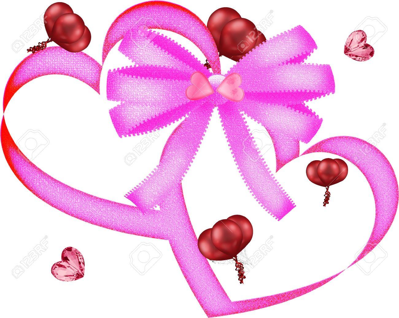 Cuore E Ballon San Valentino Grafica Clipart Foto Royalty Free.
