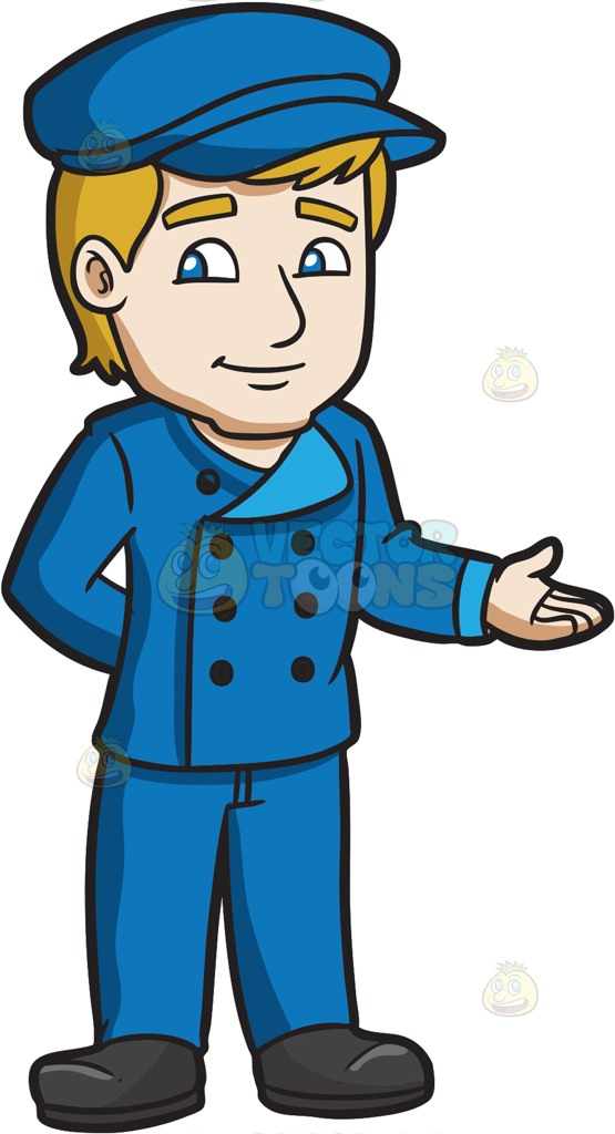 A Parking Valet At The Hotel Cartoon Clipart.