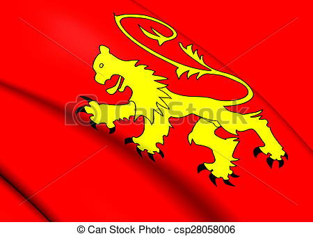 Stock Illustration of Flag of Valletta, Malta. Close Up.