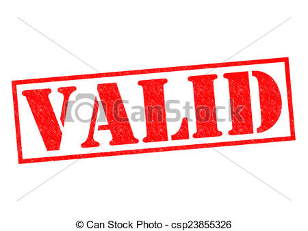 Clip Art of VALID Rubber Stamp.