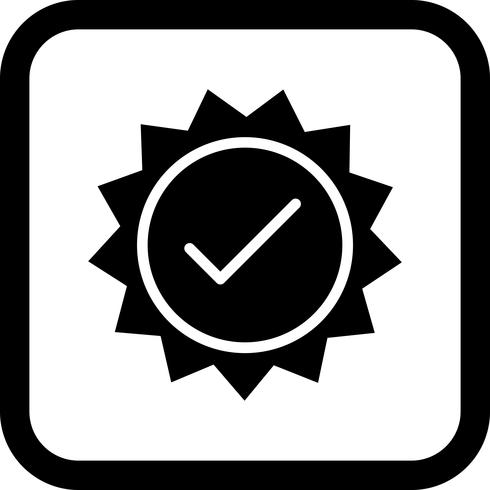 Valid Stamp Icon Design.