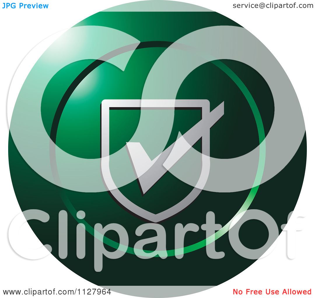 Clipart Of A Green Validate Or Protection Icon.