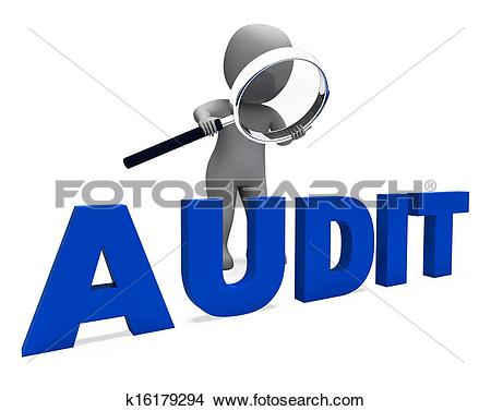 Drawings of Audit Character Means Validation Auditor Or Scrutiny.