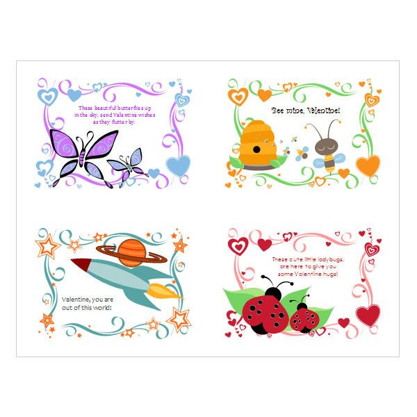 5 Free Valentine's Day Templates and Designs from Microsoft Office.