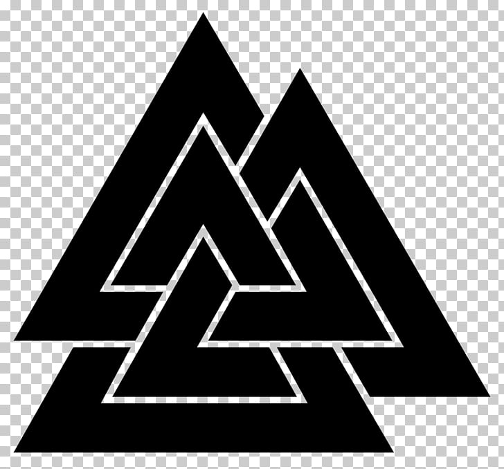 Odin Valknut Viking Age Runes Old Norse, symbol PNG clipart.