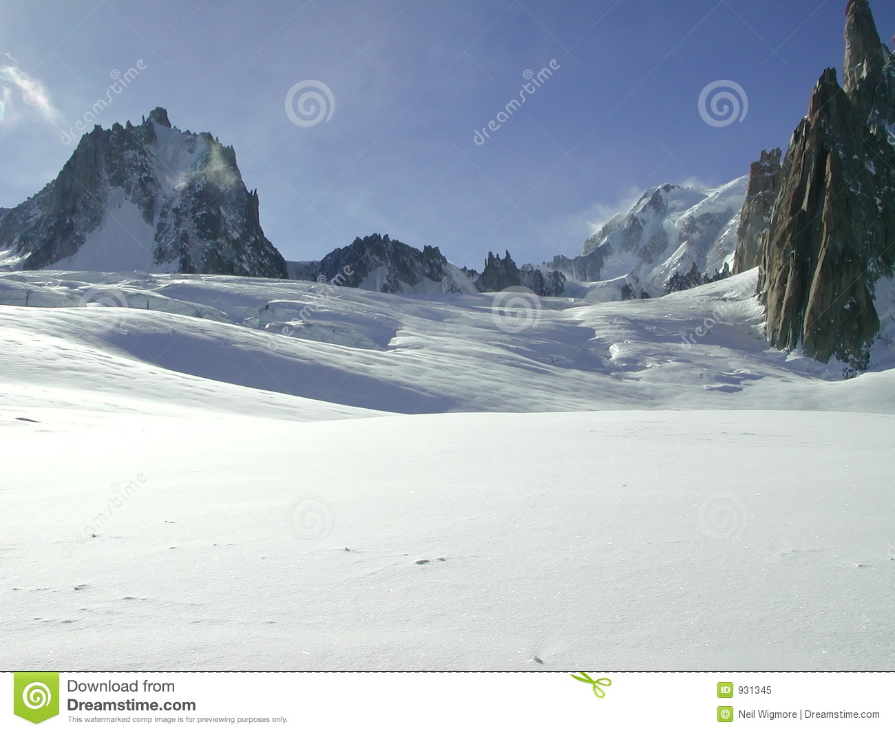 Vallee Blanche 6 Royalty Free Stock Photo.