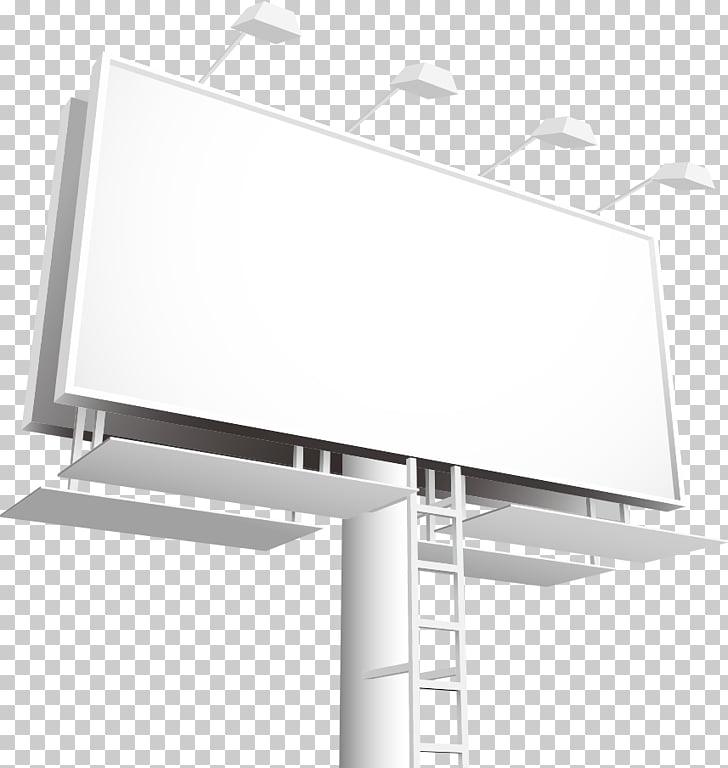 Ilustración de letrero blanco, publicidad en vallas.