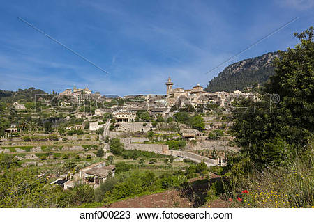 Stock Photo of Spain, Mallorca, View of Parish church of Sant.