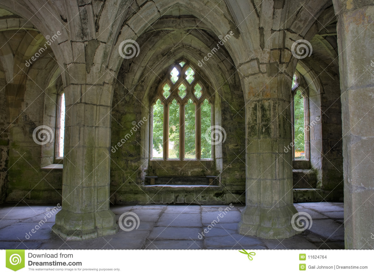 Valle Crucis Abbey Stock Images.