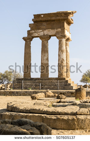 Valle Dei Templi Stock Images, Royalty.
